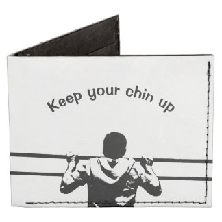 Keep Your Chin Up White Billfold Wallet