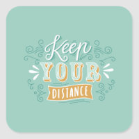 Keep your distance stickers