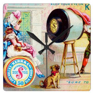Keep Your Eye On Kerr's Thread Square Wallclock