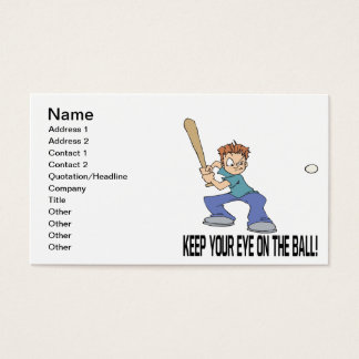 Keep Your Eye On The Ball Business Card