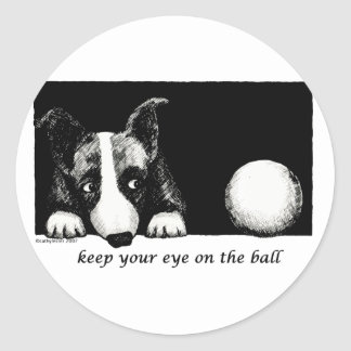 Keep your eye on the ball classic round sticker