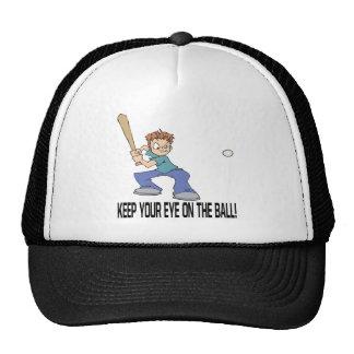 Keep Your Eye On The Ball Mesh Hats