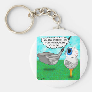 Keep Your Eye on the Ball Key Chain