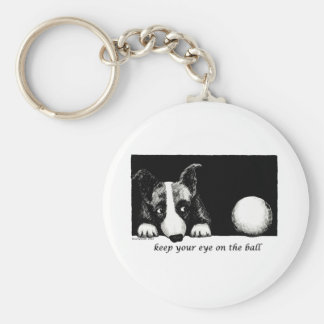 Keep your eye on the ball keychains
