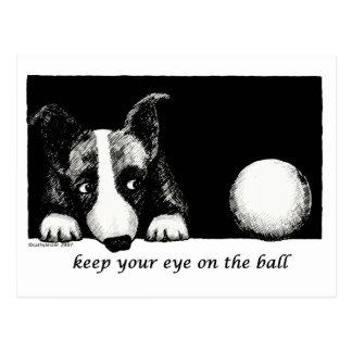 Keep your eye on the ball postcard