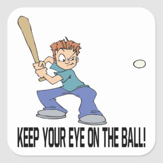 Keep Your Eye On The Ball Square Sticker