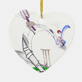 keep your eye on the ball, tony fernandes Double-Sided heart ceramic christmas ornament