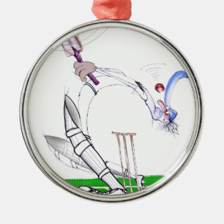 keep your eye on the ball, tony fernandes round metal christmas ornament