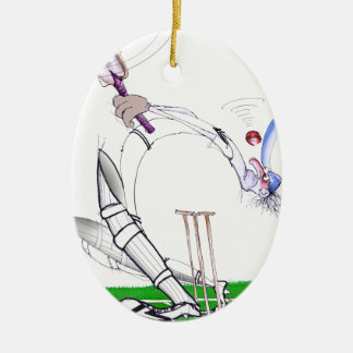 keep your eye on the ball, tony fernandes Double-Sided oval ceramic christmas ornament