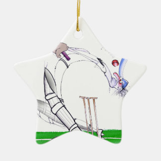 keep your eye on the ball, tony fernandes Double-Sided star ceramic christmas ornament
