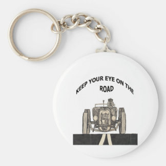 Keep your eye on the road keychain