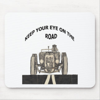 Keep your eye on the road mouse pad