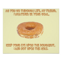 Keep your eye upon the doughnut poster