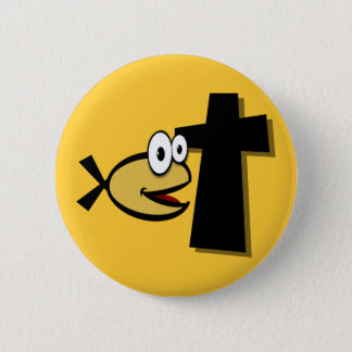 Keep Your Eyes on the Cross Pinback Button