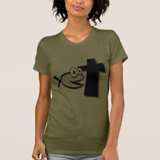 Keep Your Eyes on the Cross Tee Shirts