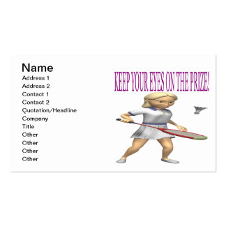 Keep Your Eyes On The Prize Double-Sided Standard Business Cards (Pack Of 100)
