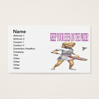 Keep Your Eyes On The Prize Business Card