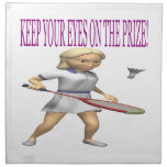 Keep Your Eyes On The Prize Printed Napkin