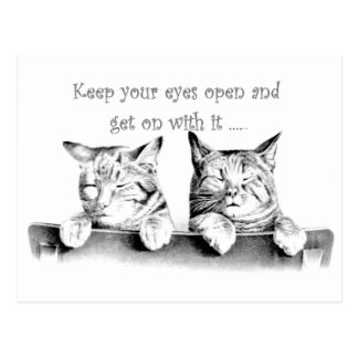 Keep Your Eyes Open and Get On With It Postcard