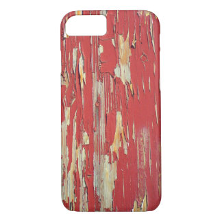 Keep your eyes peeled, peeling paint in red. iPhone 7 case