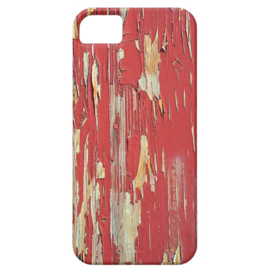 Keep your eyes peeled, peeling paint in red. iPhone SE/5/5s case