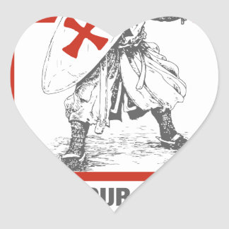 Keep Your Faith, Protect Your Family Heart Sticker