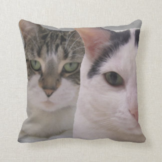 Keep Your Friends Close and Enemies Closer Cats Throw Pillow
