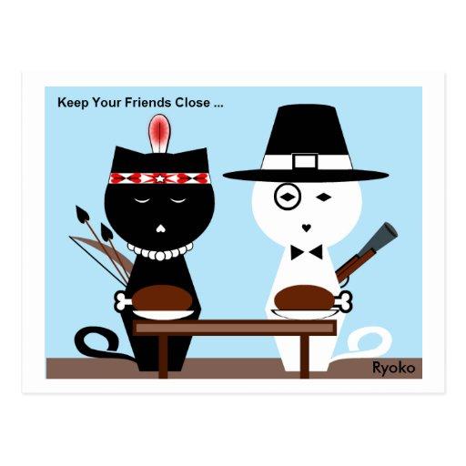 Keep Your Friends Close Postcard