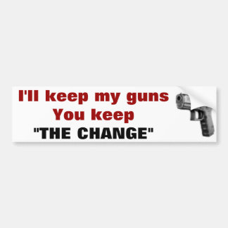 keep your guns bumper sticker