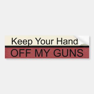 """""""Keep Your Hands"""" Bumper Sticker"""