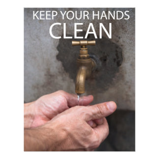 Keep your hands clean flyer
