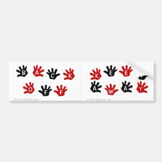 Keep your hands off my stuff bumper sticker