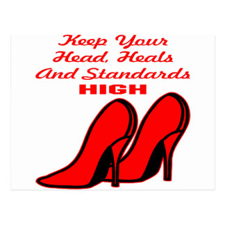 Keep Your Head, Heals And Standards High Postcard