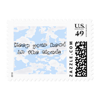 Keep Your Head in the Clouds Reminder! Postage Stamp