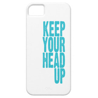 Keep Your Head Up (bright blue) iPhone 5 Cover