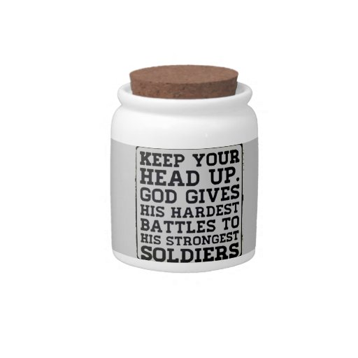 Keep your Head up Candy Jars