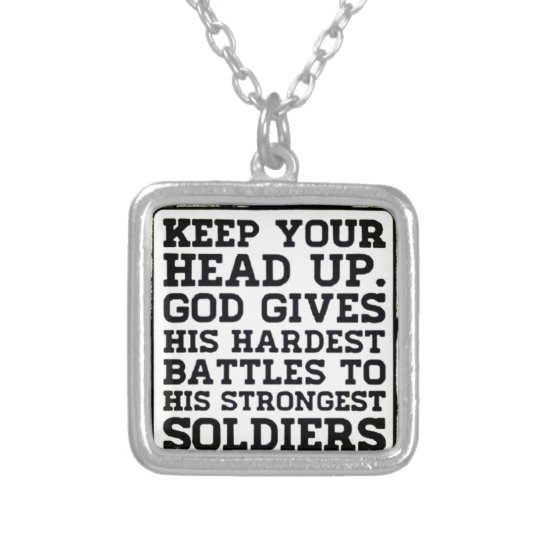 Keep your Head up Silver Plated Necklace