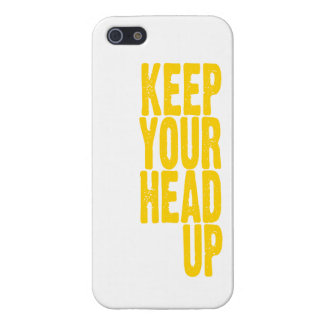 Keep Your Head Up (sunshine yellow) Case For iPhone SE/5/5s