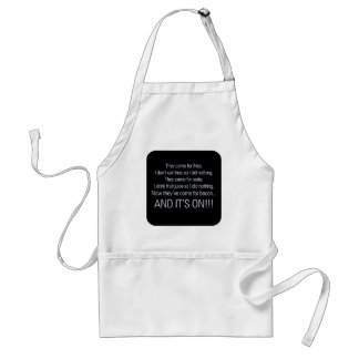 Keep your health care off my bacon 1 adult apron