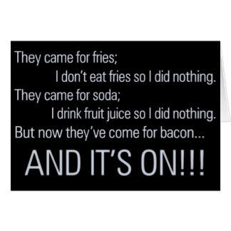 Keep your health care off my bacon 1 card