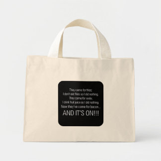 Keep your health care off my bacon 1 mini tote bag
