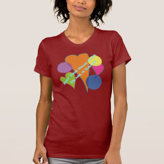 Keep Your Heart Warm and We are in Circles T-shirts