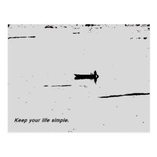 Keep your life simple postcard