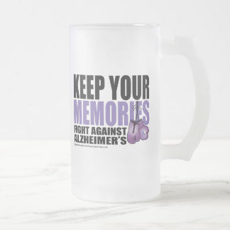 Keep Your Memories Frosted Glass Beer Mug