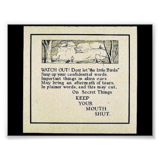 Keep Your Mouth Shut Print