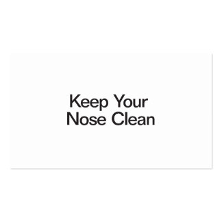 Keep Your Nose Clean Business Card
