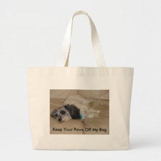 Keep Your Paws Off My Bag, Bandit Jumbo Tote Bag