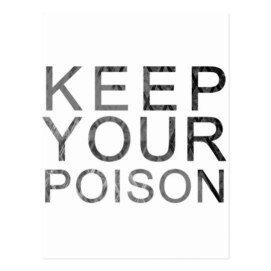 Keep Your Poison Postcard
