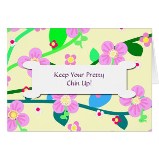 Keep Your Pretty Chin Up! Stationery Note Card