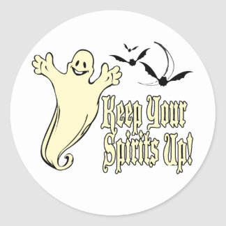 Keep Your Spirits Up Round Stickers